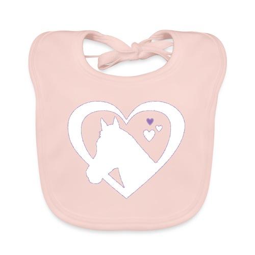 horse heart - Bio-slabbetje voor baby's