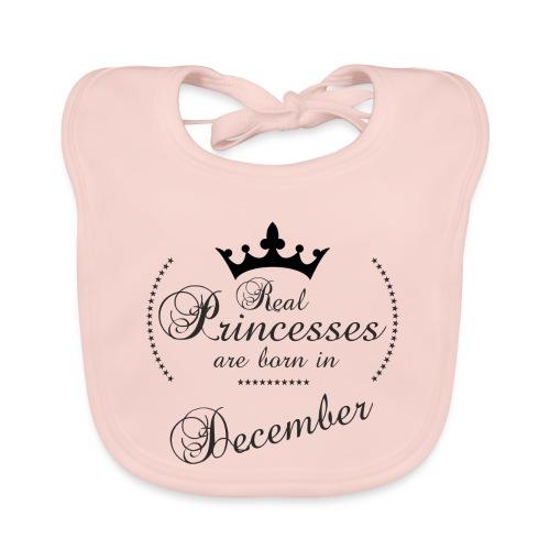 Real Princesses black December - Baby Bio-Lätzchen