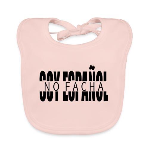 soy español no facha patriots - Babero de algodón orgánico para bebés