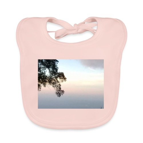 paisaje divivo - Babero de algodón orgánico para bebés