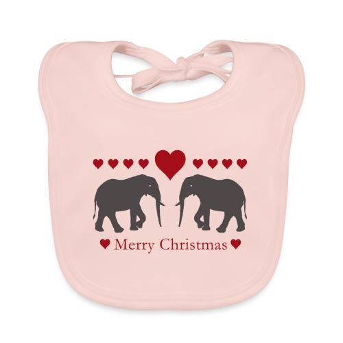 Afrika - Elefant - Weihnachten - Liebe - Baby Bio-Lätzchen
