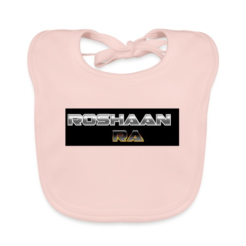 RoshaanRa GreyLogo - Baby Organic Bib