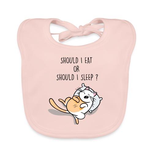 Fressen oder schlafen? Katze hat nur zwei Optionen - Baby Bio-Lätzchen