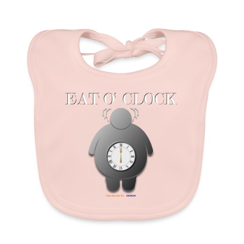 Eat o clock tshirt - Bavoir bio Bébé