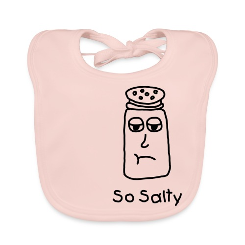 So Salty (Black Design) - Bio-slabbetje voor baby's