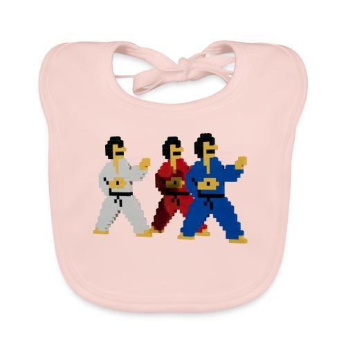 8 bit trip ninjas 1 - Organic Baby Bibs