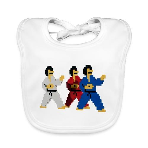 8 bit trip ninjas 1 - Baby Organic Bib