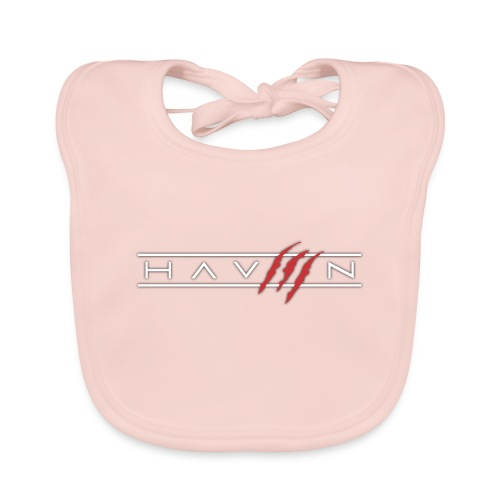 Logo Wit - Bio-slabbetje voor baby's