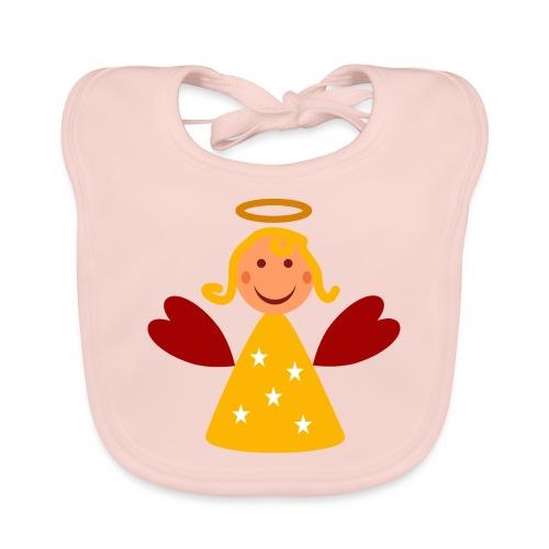 Schöner Engel mit Heiligenschein Süßes Engelchen - Baby Bio-Lätzchen