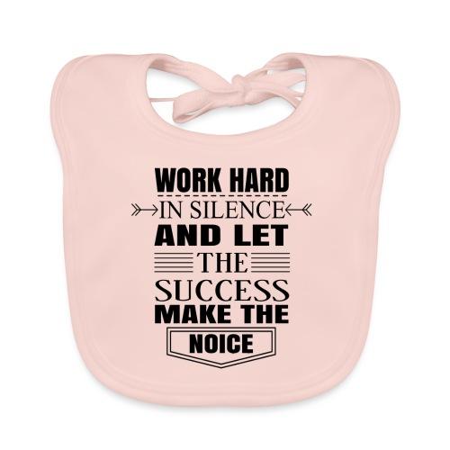 Work hard - Vauvan luomuruokalappu