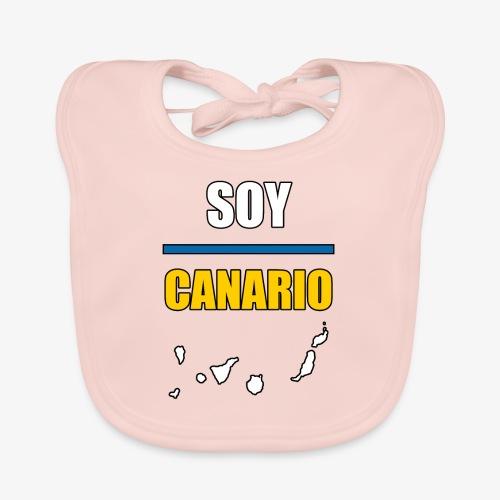 Soy Canario - Babero de algodón orgánico para bebés