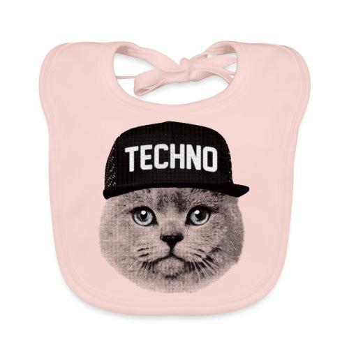 Techno cat - Baby Organic Bib