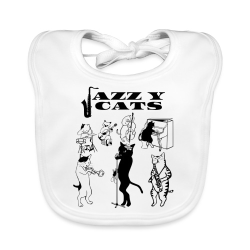 jazzy cats - Bavoir bio Bébé