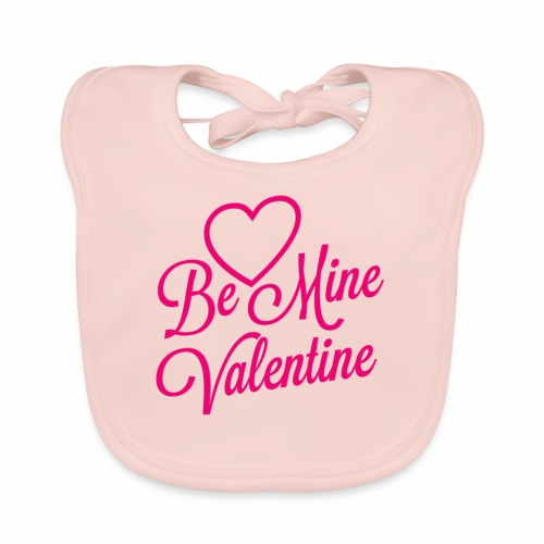 Be Mine Valentine - Ekologisk babyhaklapp