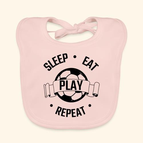FOOTBALL soccer - Eat sleep play repeat - ballon - Bavoir bio Bébé