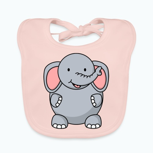 Ellie Elephant - Appelsin - Ekologisk babyhaklapp