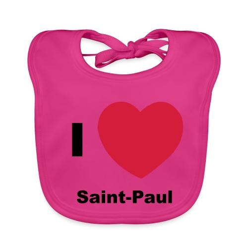 i love sainte paul - Bavoir bio Bébé