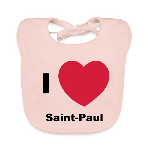 i love sainte paul - Bavoir bio Bébé