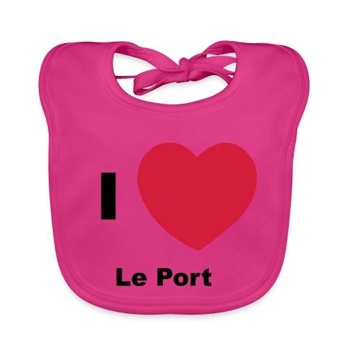 i love le port - Bavoir bio Bébé
