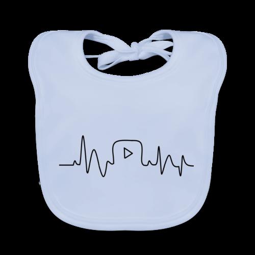 Youtube Logo Tas 'My Kind of Heartbeat' - Bio-slabbetje voor baby's