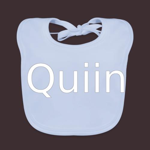 White_Quiin_outline - Baby Bio-Lätzchen