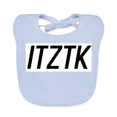 ItzTk black print - Baby Organic Bib