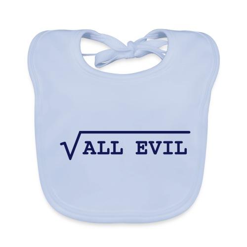 Root of all evil – lustige Geschenkidee - Baby Bio-Lätzchen
