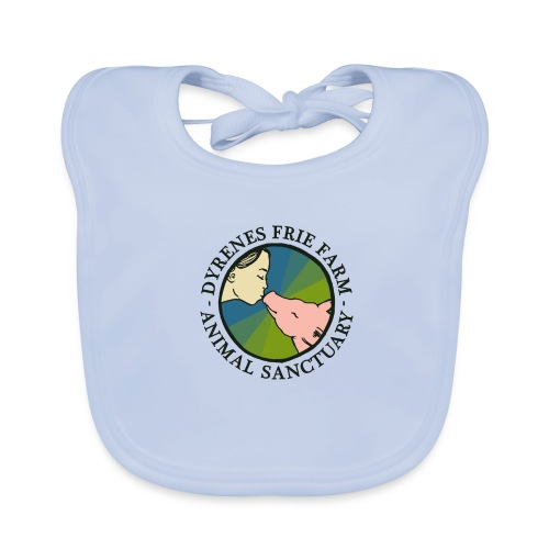 Dyrenes Frie Farm Logo - Baby økologisk hagesmæk