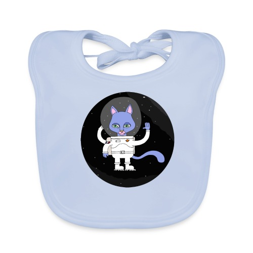 space cat - Bavoir bio Bébé