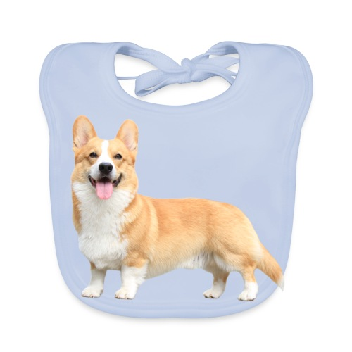 Topi the Corgi - Sideview - Baby Organic Bib