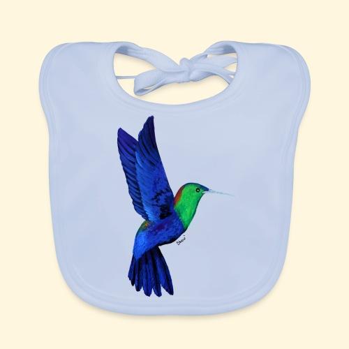 Colibri bleu et vert - Bavoir bio Bébé