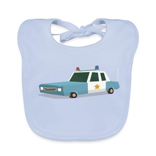 Police car t shirt - Baby Organic Bib