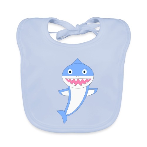 Sharky - Babero de algodón orgánico para bebés
