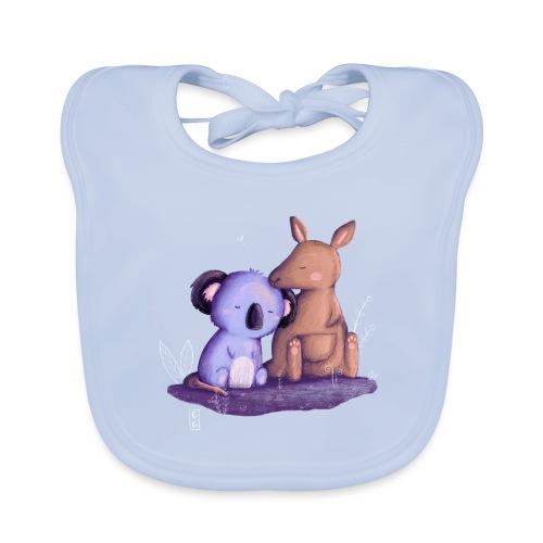 Koala und Känguru - Baby Bio-Lätzchen