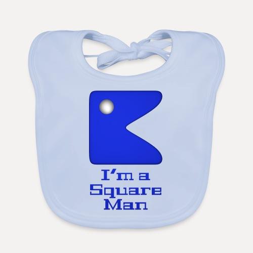 Square man blue - Organic Baby Bibs