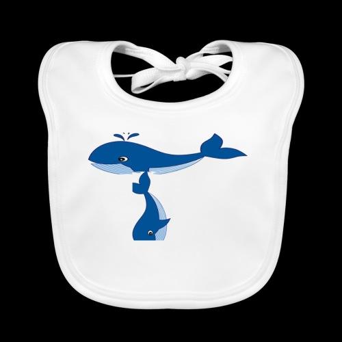 whale t - Organic Baby Bibs