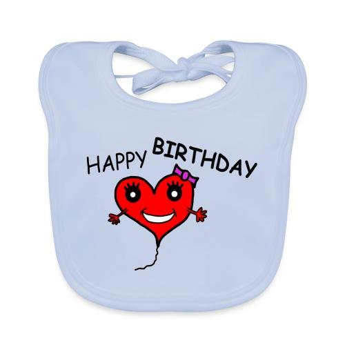 Herz Smiley Geburtstag - Baby Bio-Lätzchen