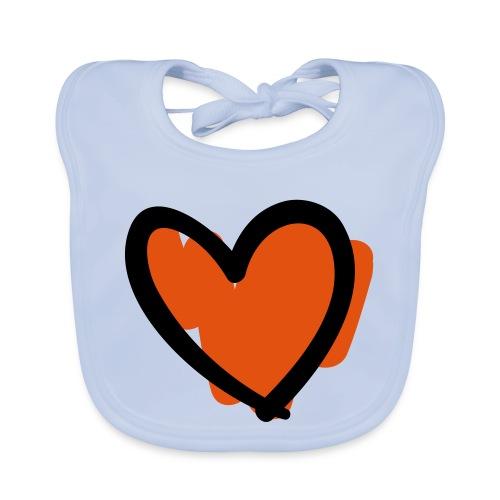Heart Cut Pixellamb - Baby Bio-Lätzchen
