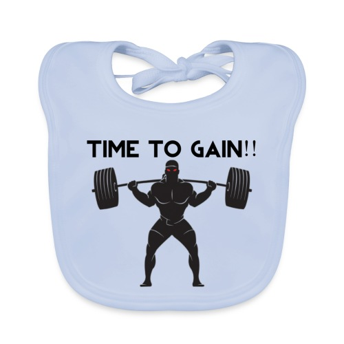 TIME TO GAIN! by @onlybodygains - Baby Organic Bib