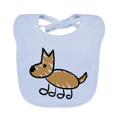 Dog Line Drawing Pixellamb - Baby Bio-Lätzchen