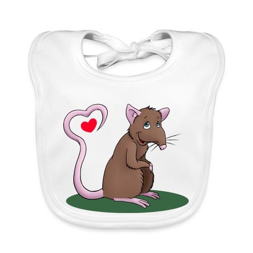 Ratte mit Herz - Baby Bio-Lätzchen