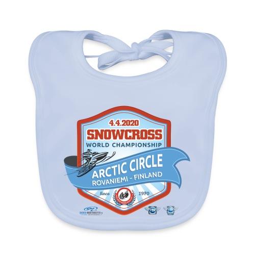 MM Snowcross 2020 virallinen fanituote - Vauvan luomuruokalappu