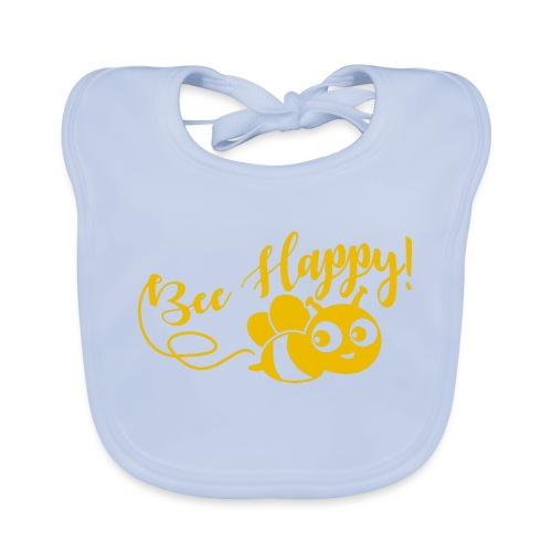 bee happy geel - Bio-slabbetje voor baby's