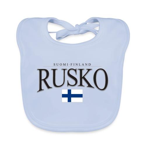 Suomipaita - Rusko Suomi Finland - Vauvan luomuruokalappu