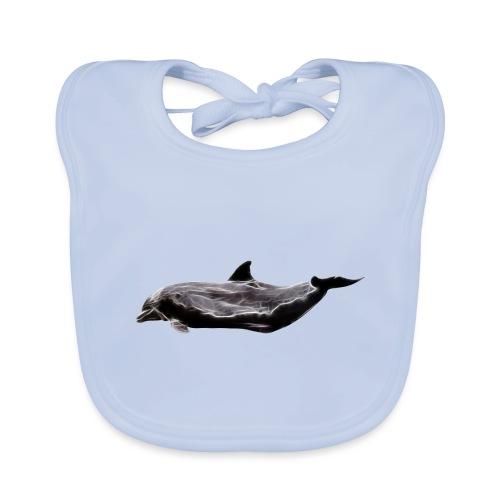 dolphin - Babero de algodón orgánico para bebés