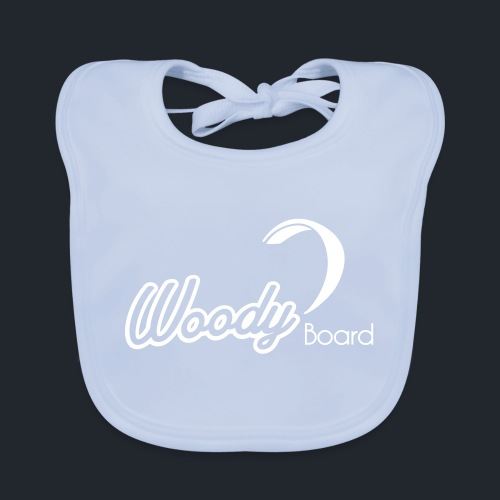 Logo Woodyboard Blanc - Bavoir bio Bébé