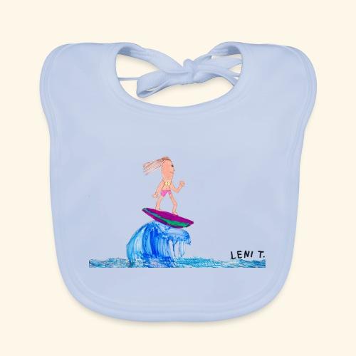 LeniT Surfergirl - Vauvan luomuruokalappu