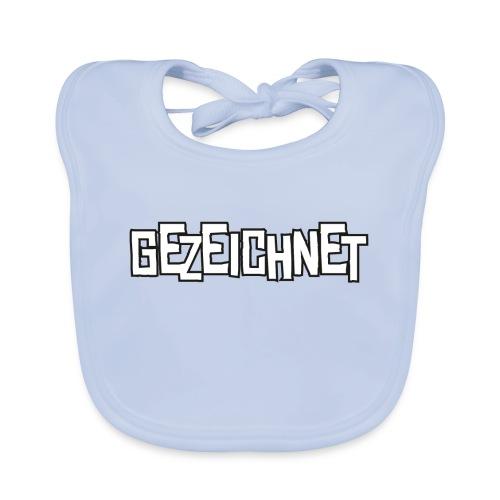 Gezeichnet Logo Weiss auf Transparent gross - Baby Bio-Lätzchen