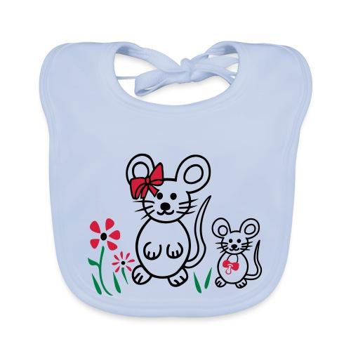 Maus Familie - Baby Bio-Lätzchen