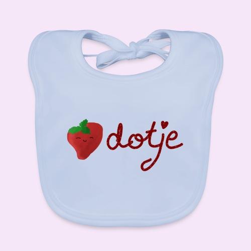 Baby aardbei Dotje - cute - Bio-slabbetje voor baby's